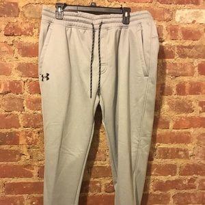 Gray jogger sweatpants